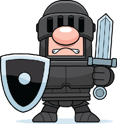 Knights clipart. Medieval knight with sword
