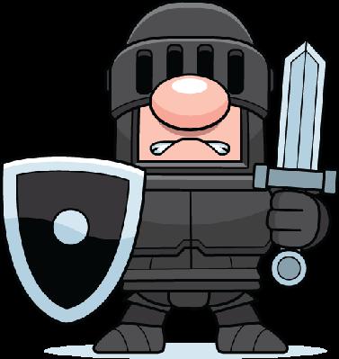 Knights clipart animated. Cartoon black knight pbs