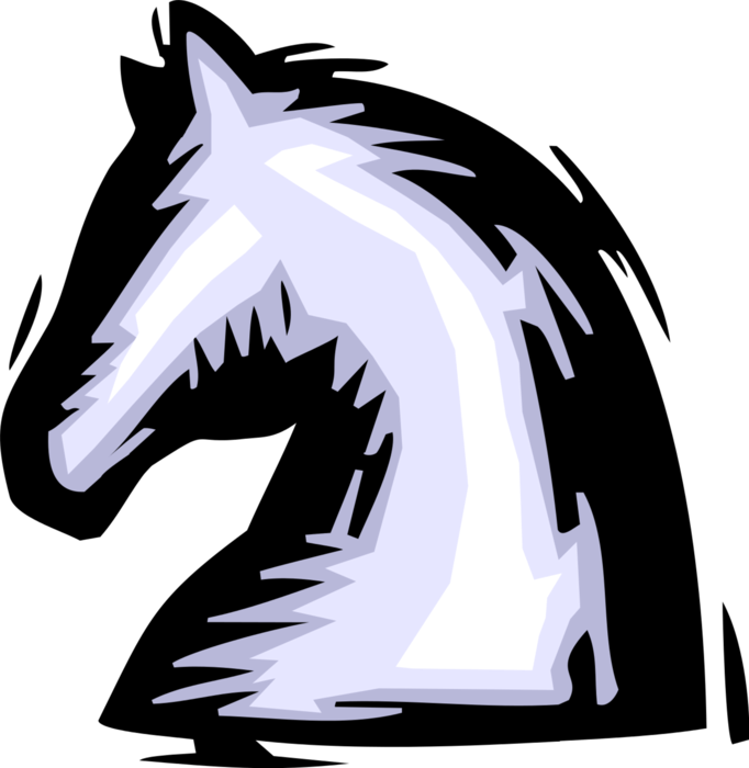 Knight chess piece vector. Knights clipart cavalry