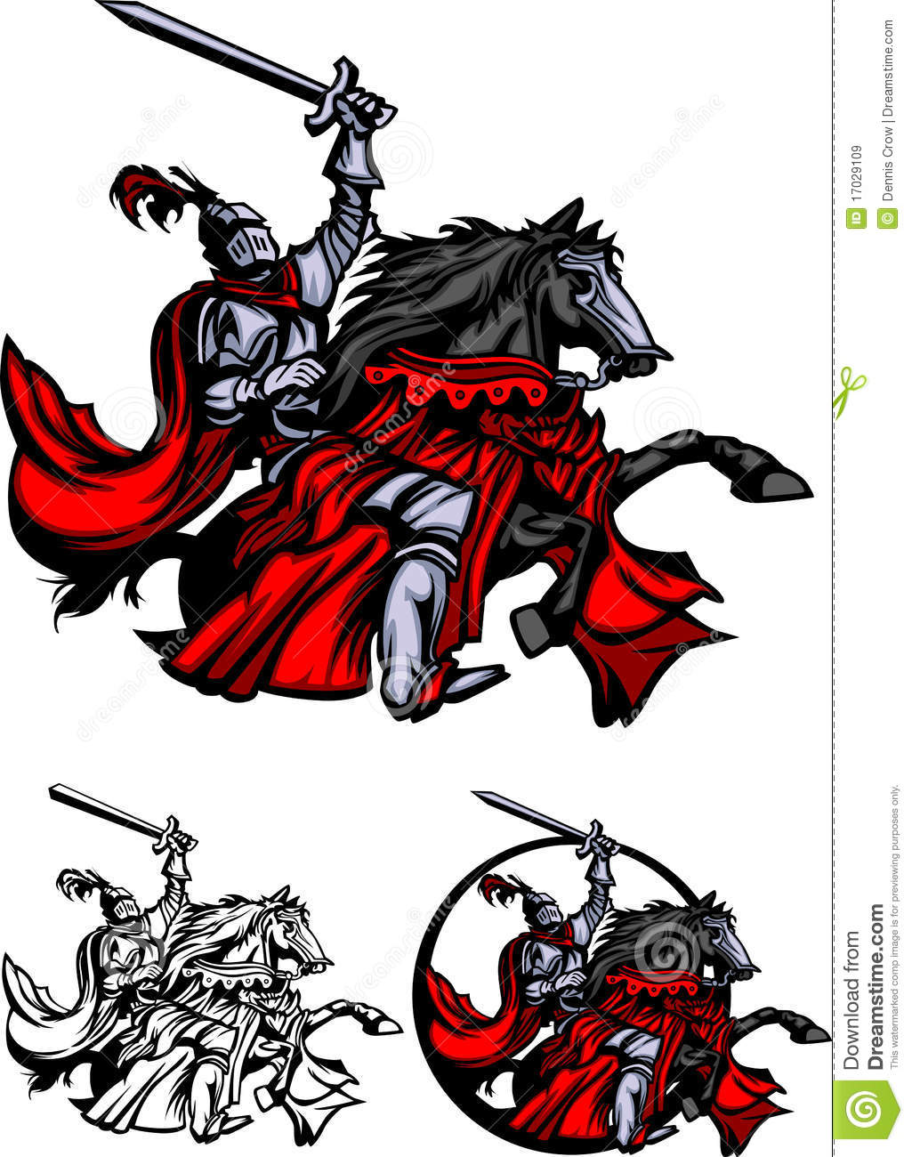 Knights clipart charger. Knight on horse free