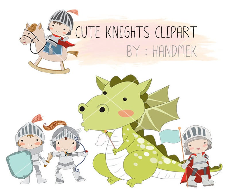 Dragon instant download png. Knights clipart cute knight