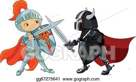 Knights clipart knight battle. Clip art vector fighting