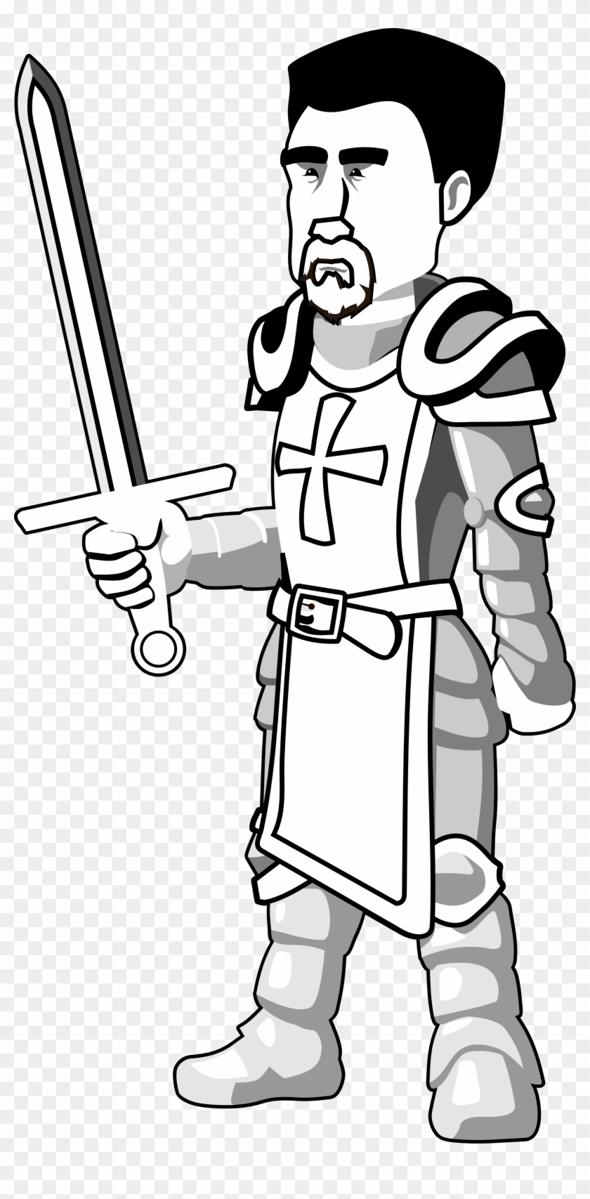 Knights clipart medieval history. Knight in black and