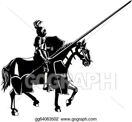 Eps illustration on horseback. Knights clipart medieval knight