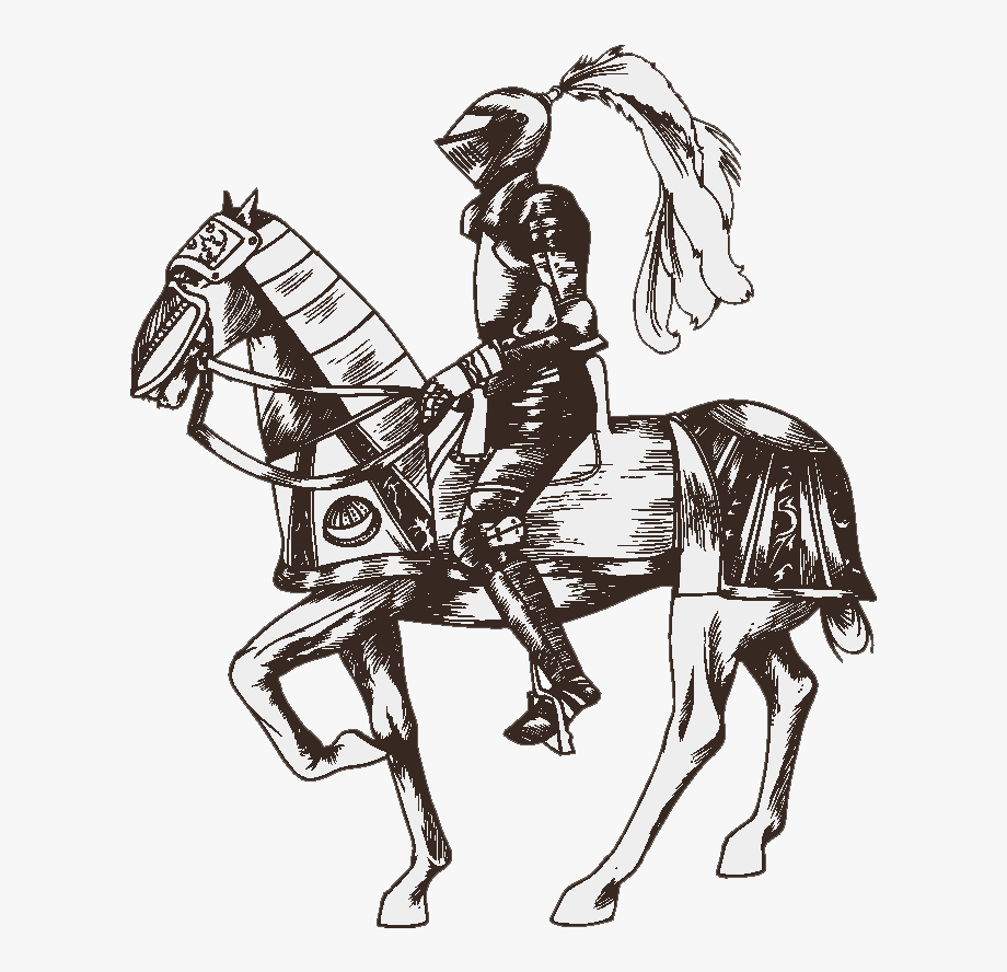 Knight clipart medieval. Transparent horses drawing png