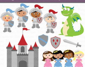 off and dragon. Knights clipart princess