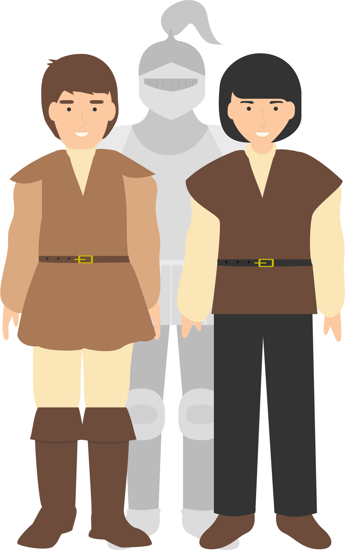 Logic problem on multiple. Knights clipart standing