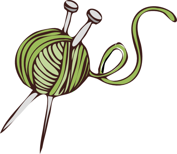 Green clip art at. Knitting clipart