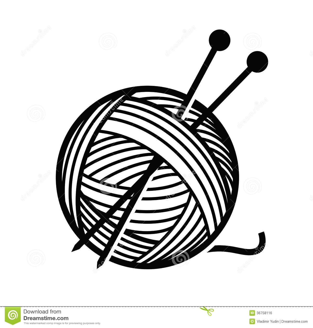 Unique collection digital coloring. Knitting clipart