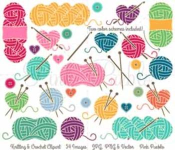 Knitting clipart. Clip art yarn by