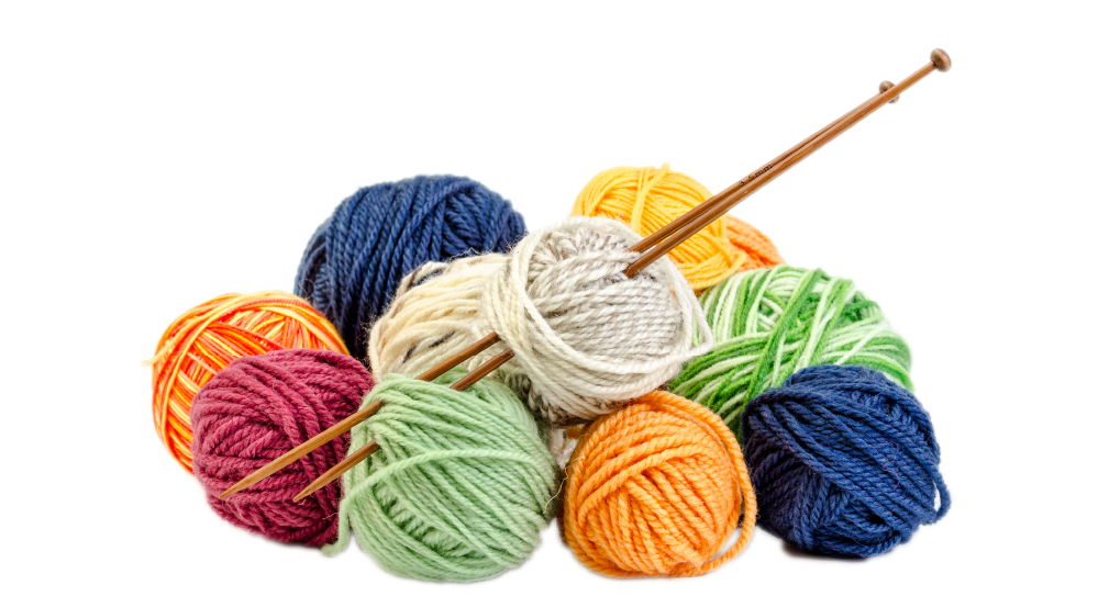 Knitting clipart blue yarn. And needles