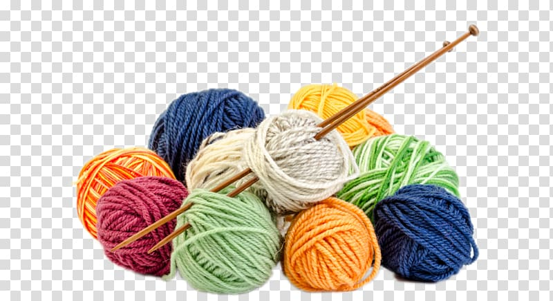 Assorted color wool transparent. Knitting clipart blue yarn