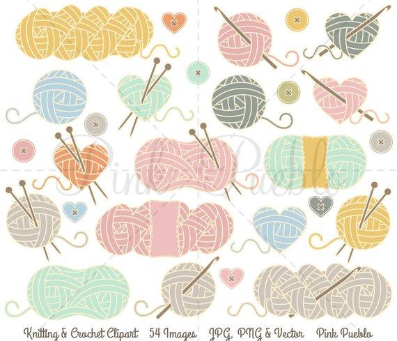 Knitting clipart craft item. Clip art yarn
