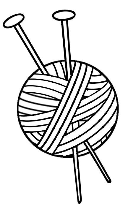 knitting clipart knitting needle 1
