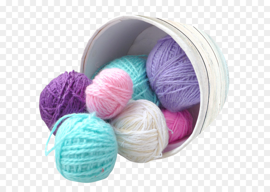 Knitting clipart product. S i len wool