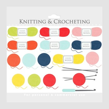 Crochet clip art crocheting. Knitting clipart product