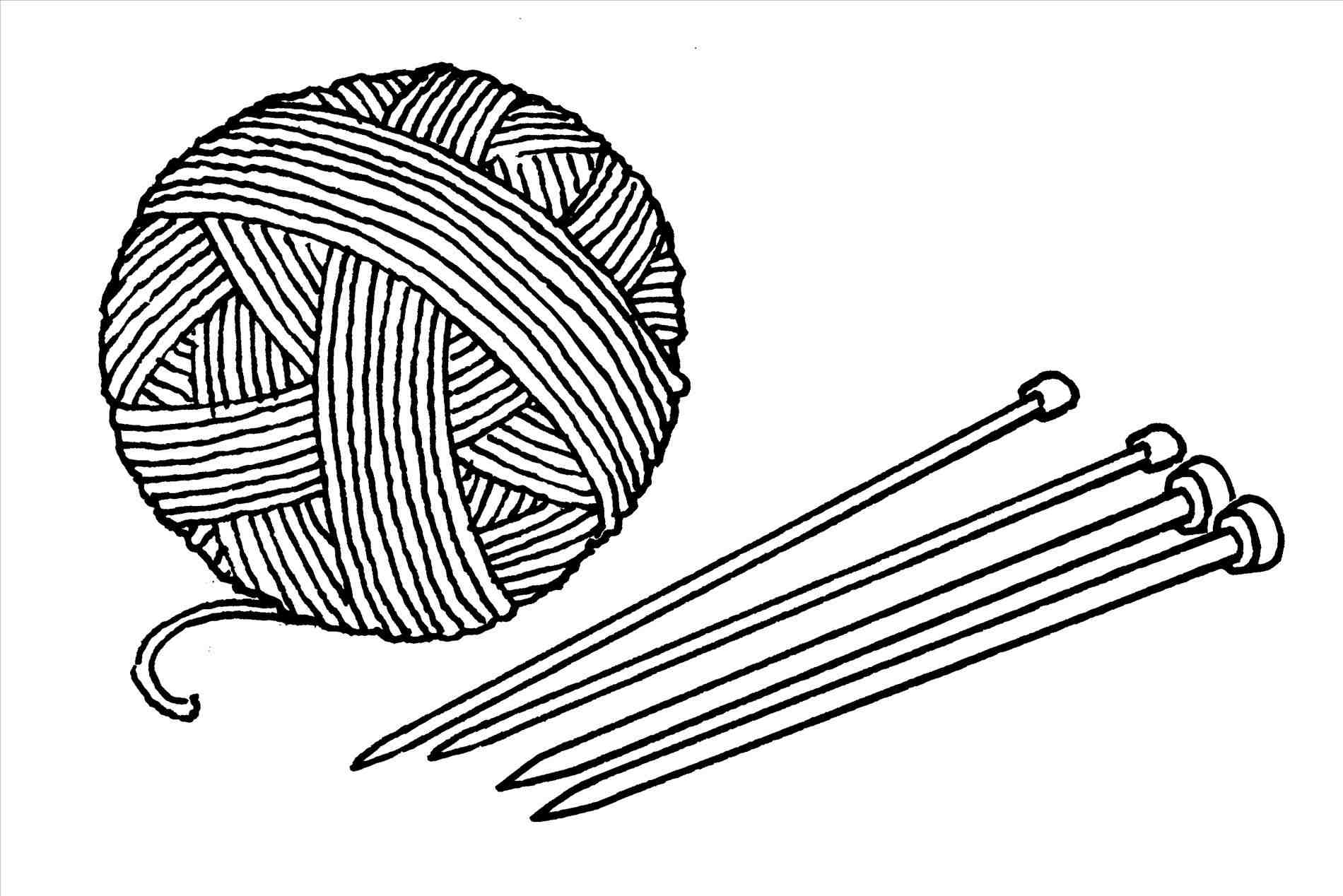 Knitting clipart sketch. Needles drawing at paintingvalley