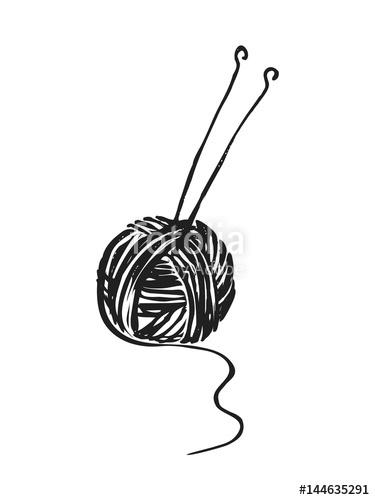 Download needles illustration clip. Knitting clipart sketch