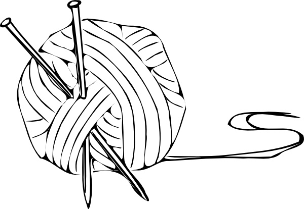 Drawing free download best. Knitting clipart sketch