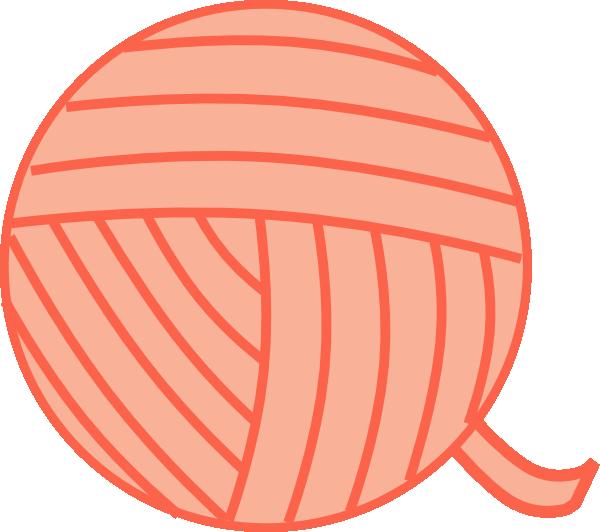 Peach clip art at. Knitting clipart yarn