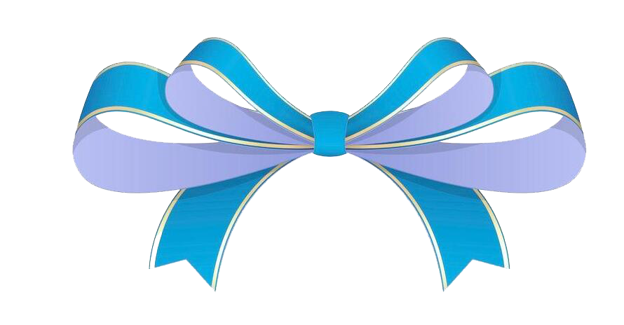 Ribbon blue shoelace transprent. Knot clipart rope bow