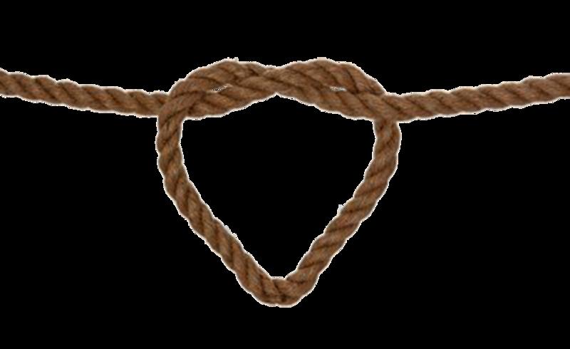 Wedding invitation lasso clip. Knot clipart rope heart