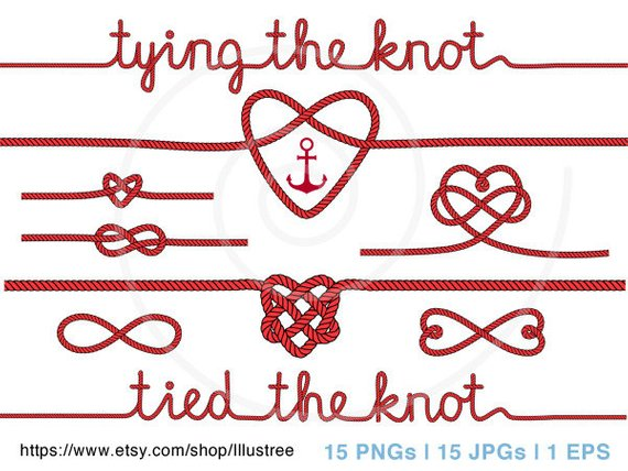 Wedding tying the anchor. Knot clipart tie knot