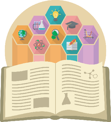 Book as a source. Knowledge clipart