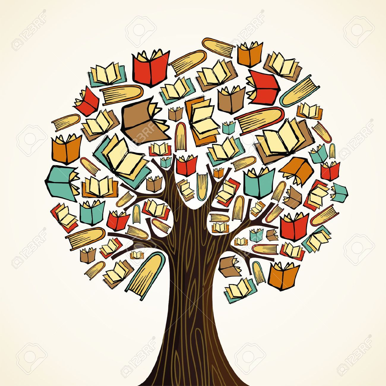 Books clipart knowledge. Tree of
