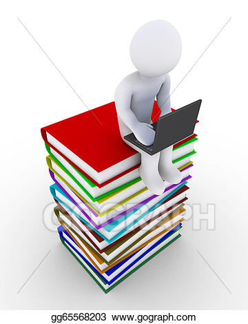 Knowledge clipart. Drawing person uses technology