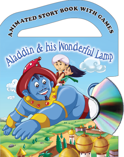 Arabian nights with cd. Knowledge clipart fiction book