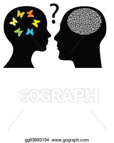 Knowledge clipart rationality. Vector stock creativity or