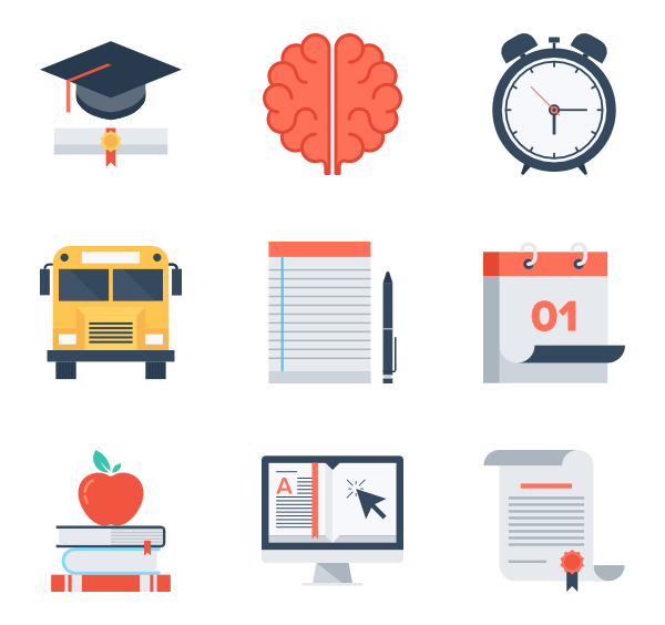 education and icon. Knowledge clipart vector