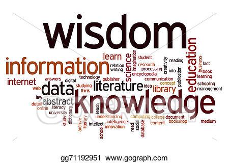 Stock illustration data information. Knowledge clipart wisdom