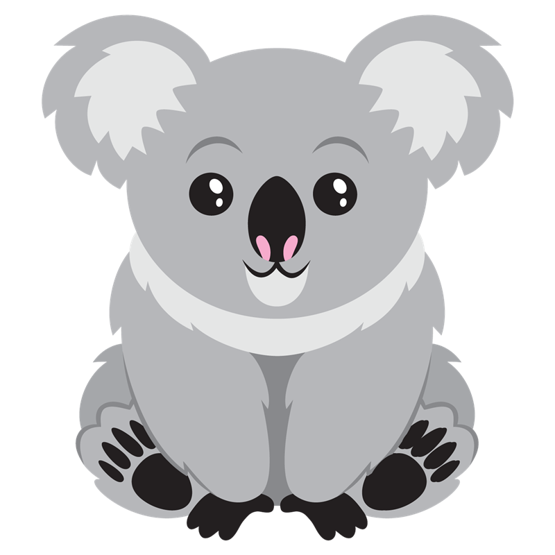 Cute koala bear . Website clipart animated