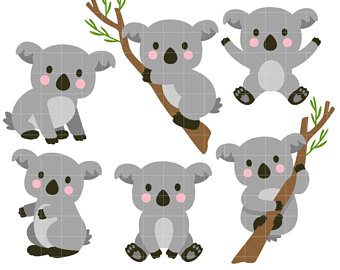 Bear clip art etsy. Koala clipart