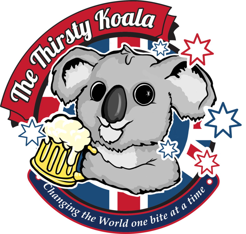 The thirsty on draught. Koala clipart aussie