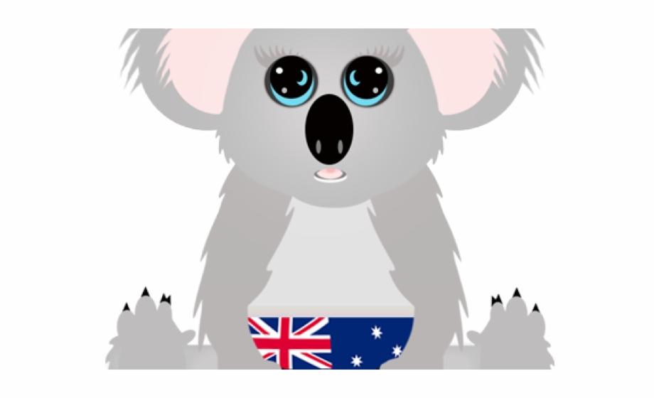 Koala clipart aussie. Cartoon clip art library