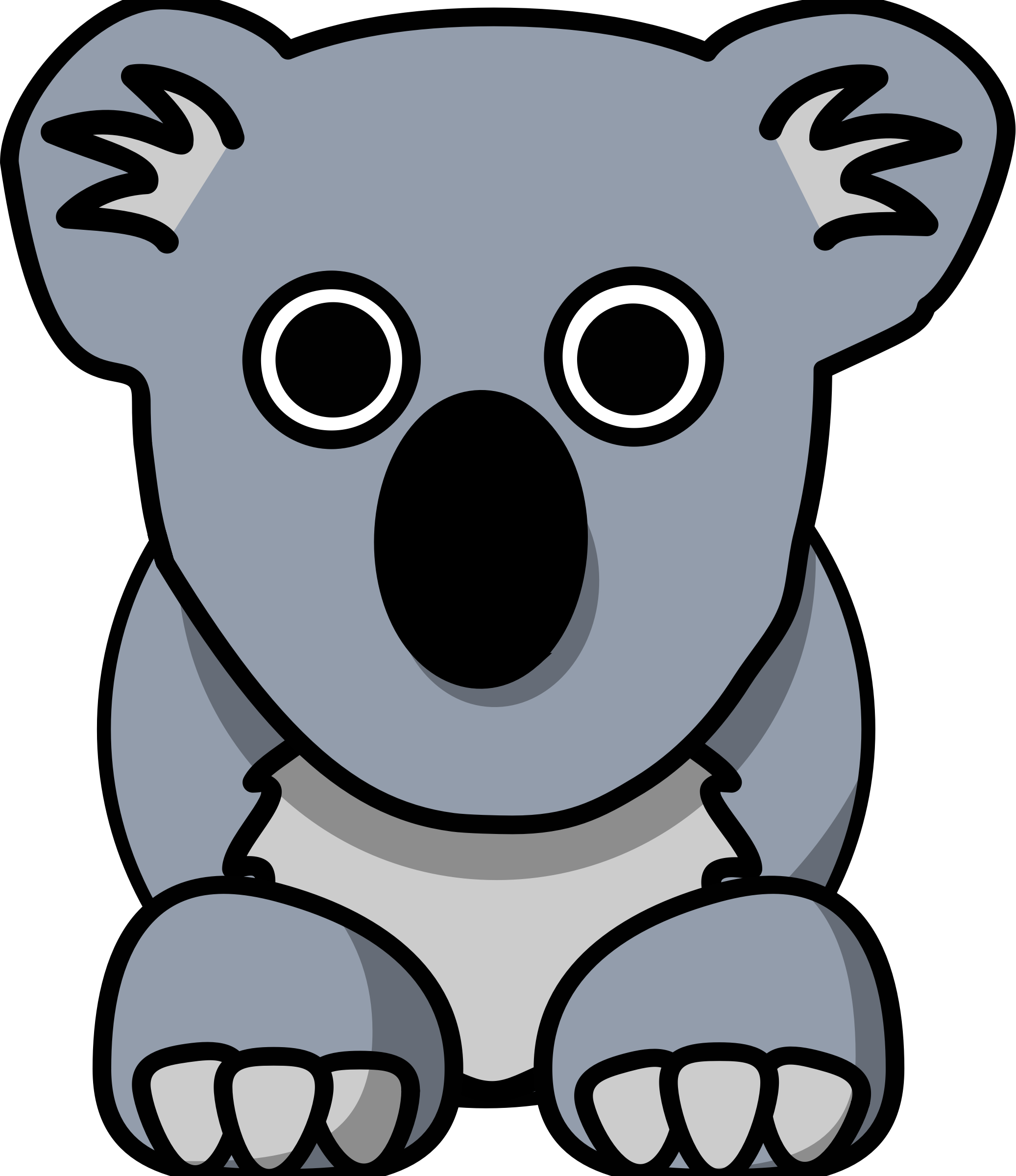Koala clipart aussie. Cartoon big image png