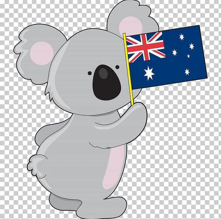 Flag of australia png. Koala clipart aussie