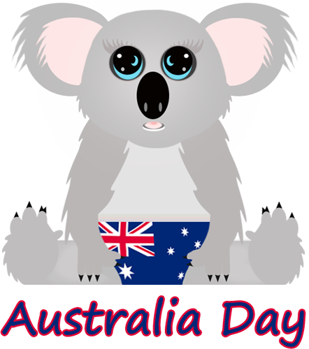 Australia day dpi umay. Koala clipart colour