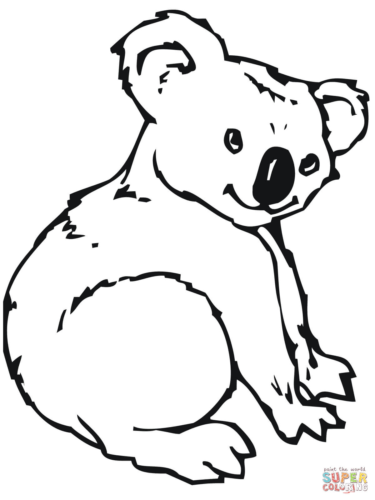 Cute coloring page free. Koala clipart colour