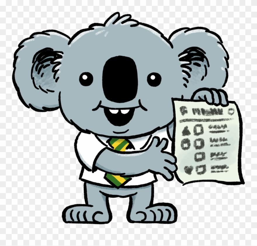 Koala clipart colour. Dennis the election now