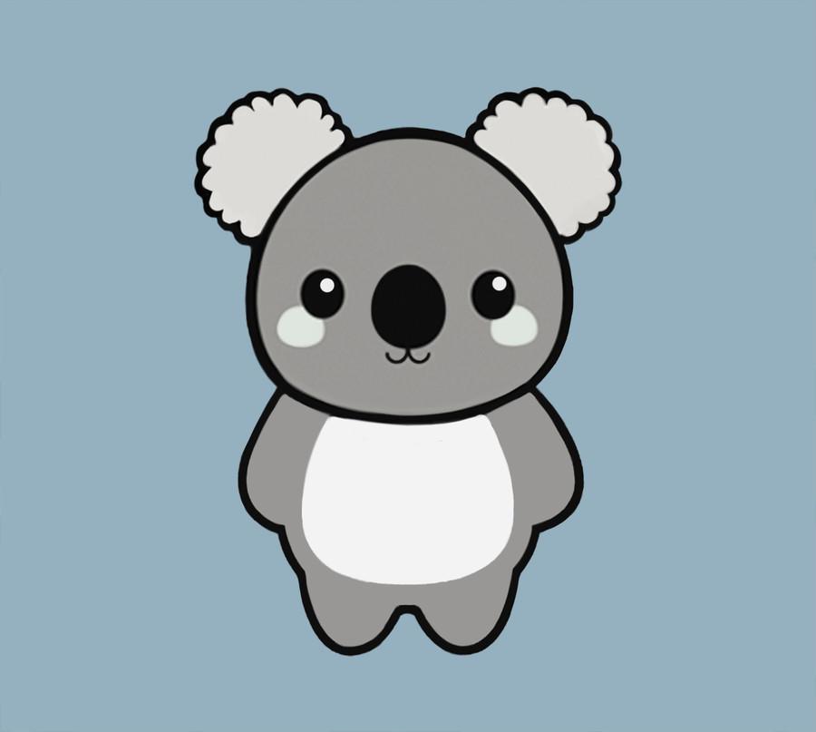 Koala clipart easy. Bear cartoon drawing free