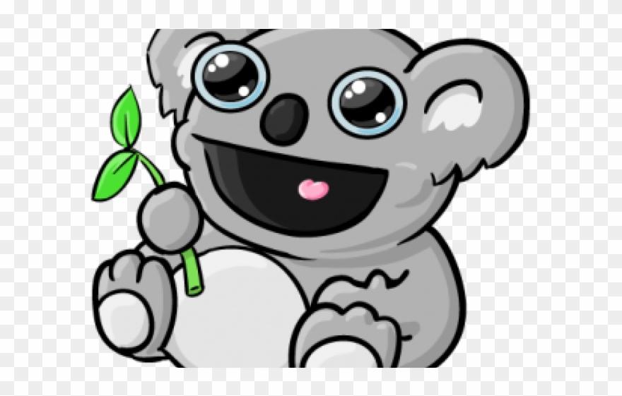 Koala clipart happy. Cartoon pinclipart
