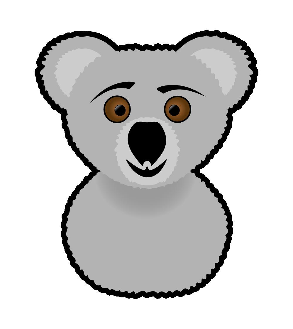 Clipartist net clip art. Koala clipart happy