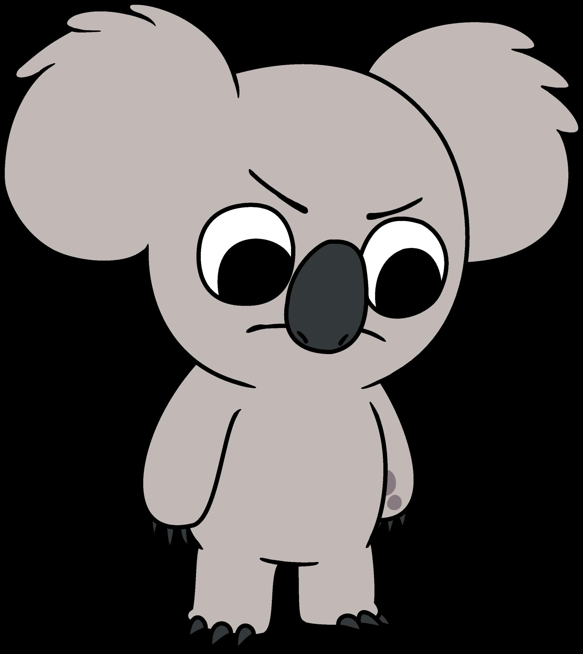 Koala clipart happy. Nom we bare bears