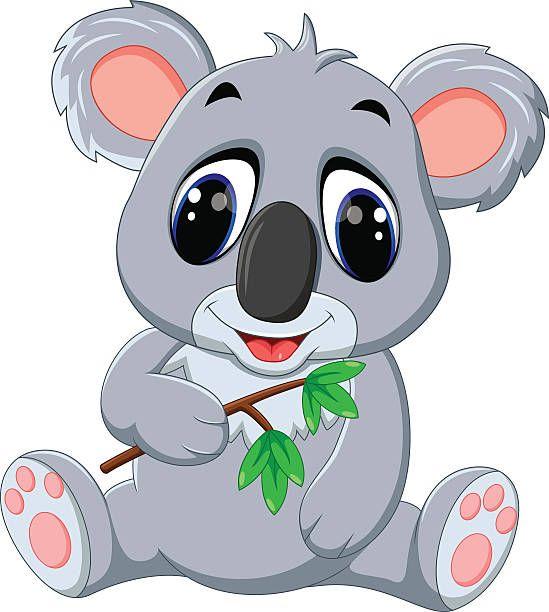 Koala clipart happy. Appliques clip art cartoon