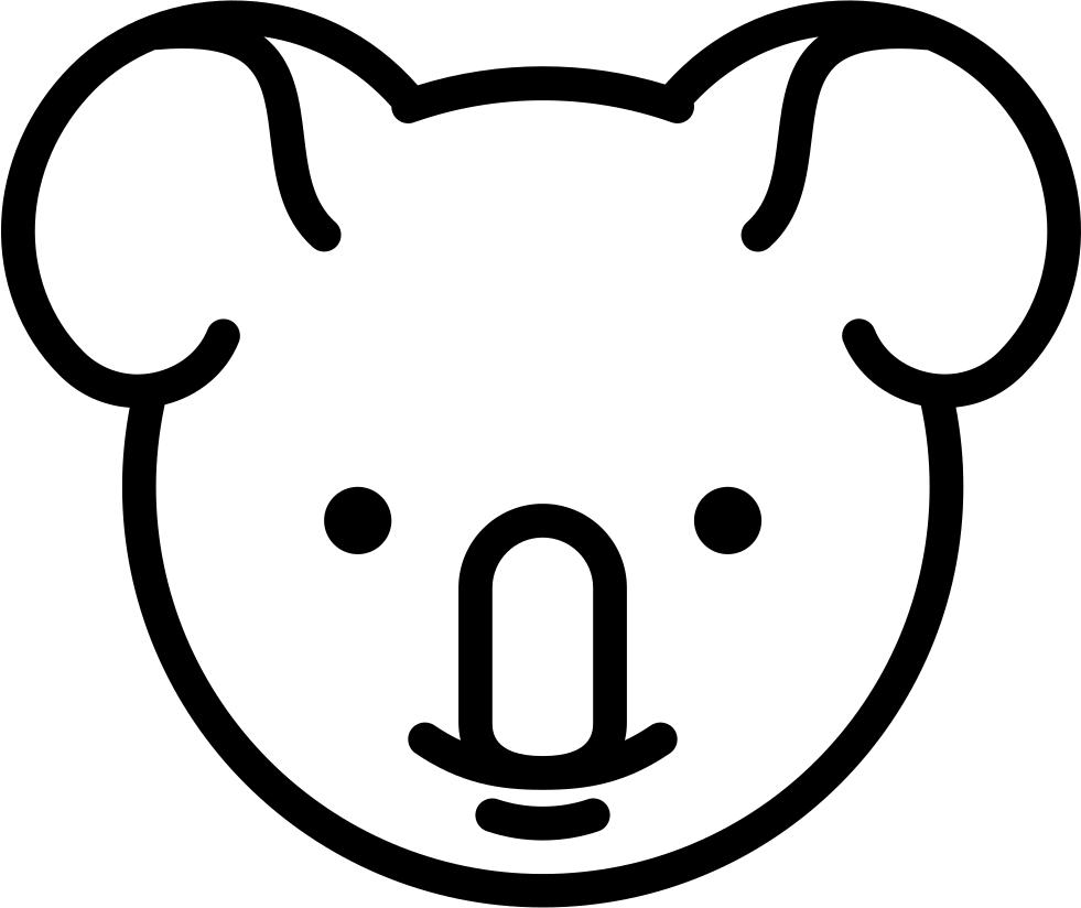 Svg png icon free. Koala clipart head