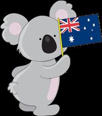 Koala clipart icon australian. Of a holding an